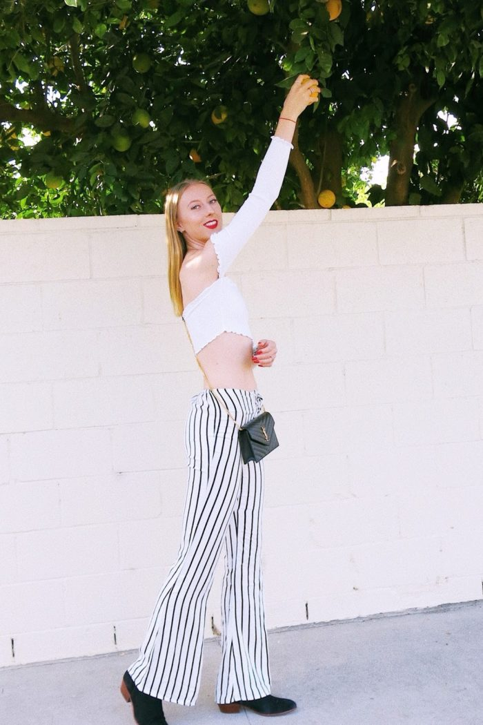 Cropped Tops and Striped Pants